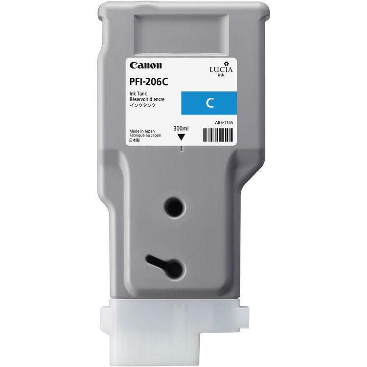 Canon PFI-206C Cyan Ink Tank 300ml
