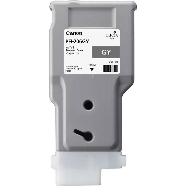 Canon PFI-206GY Grey Ink Tank 300ml