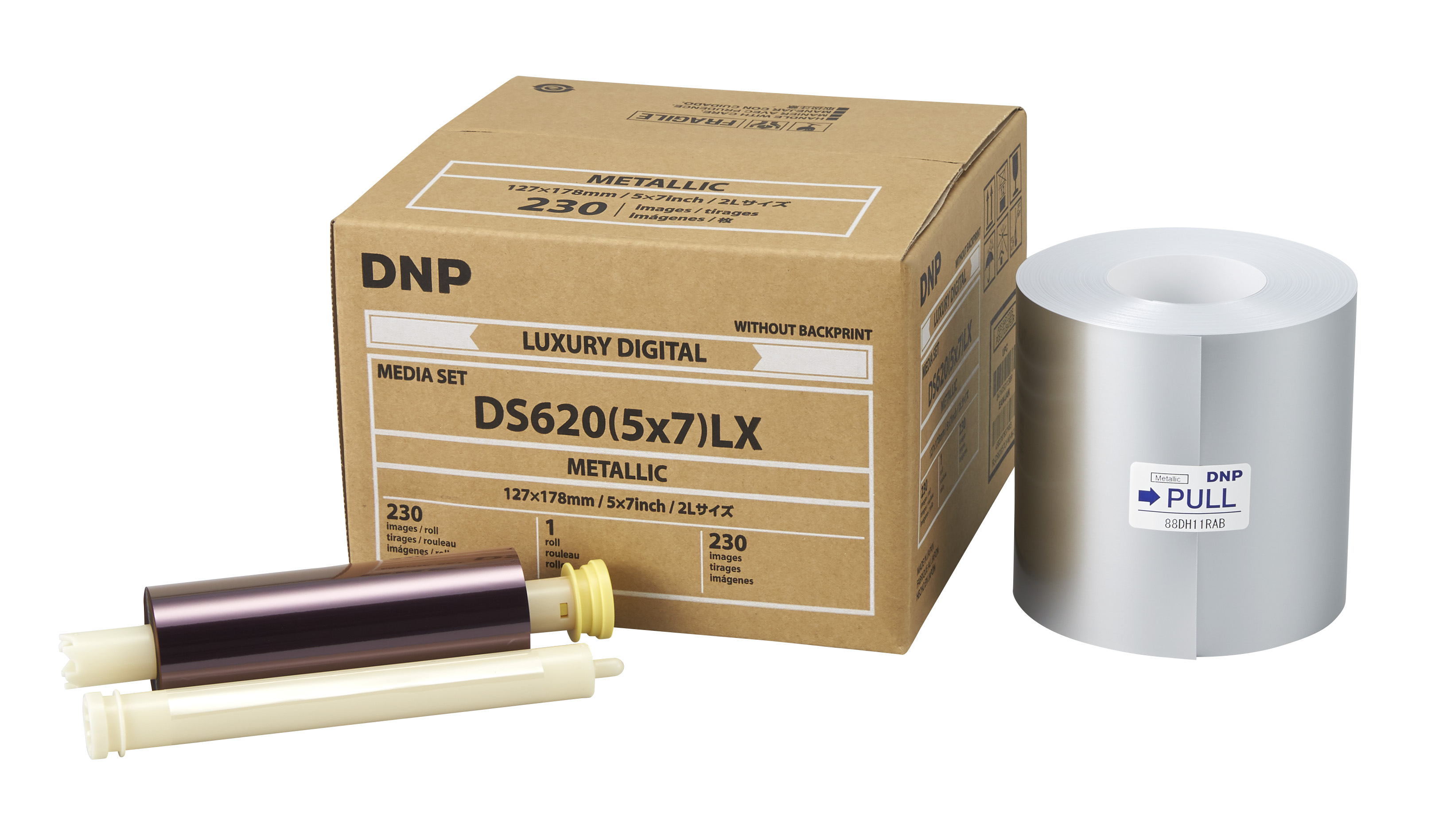 "DNP Metallic Finish 5"" x 7"" Luxury Media for use with DS620A Printer"