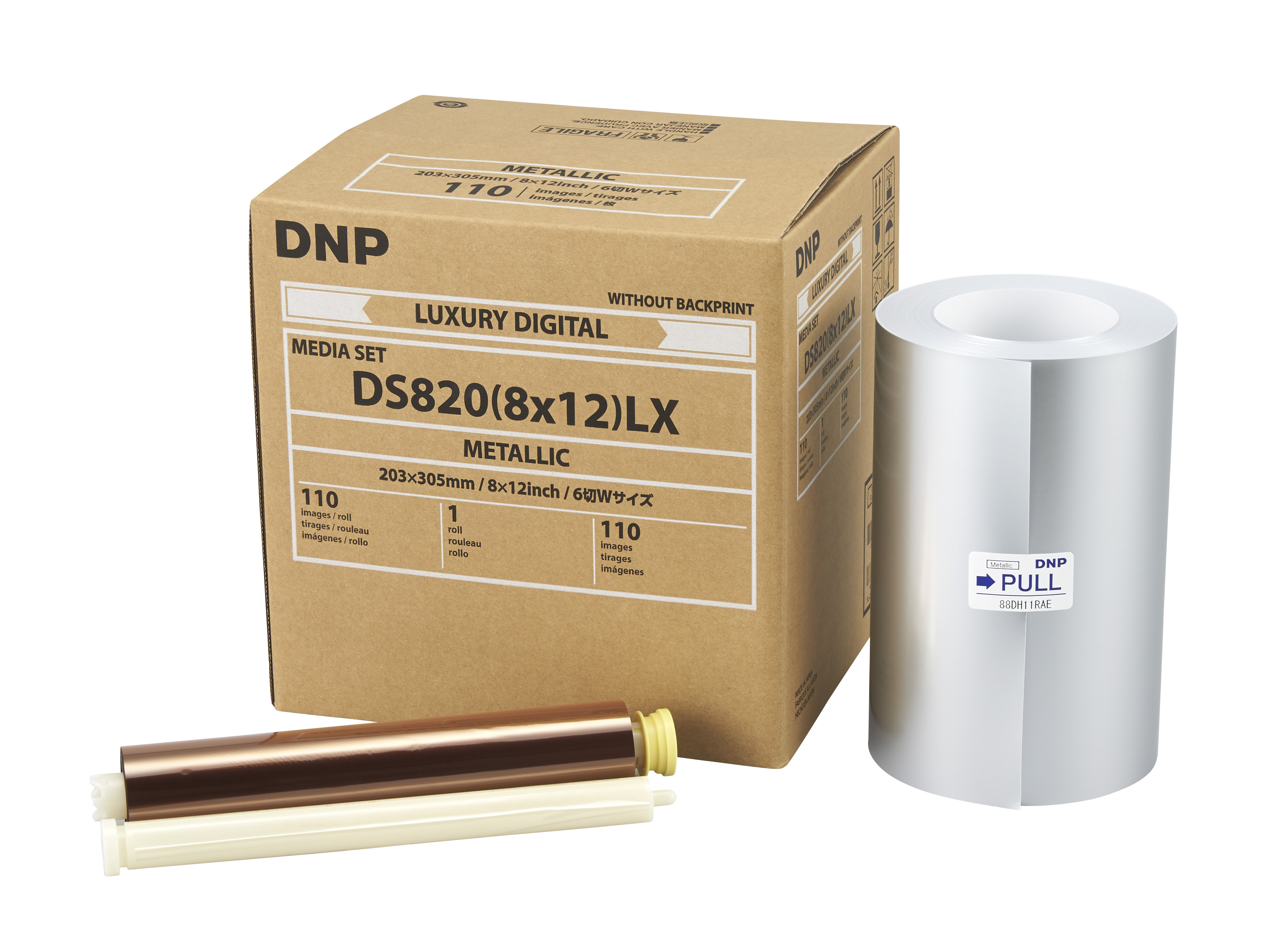 """DNP Metallic Finish 8"""" x 12"""" Luxury Media for use with DS820A Printer"""