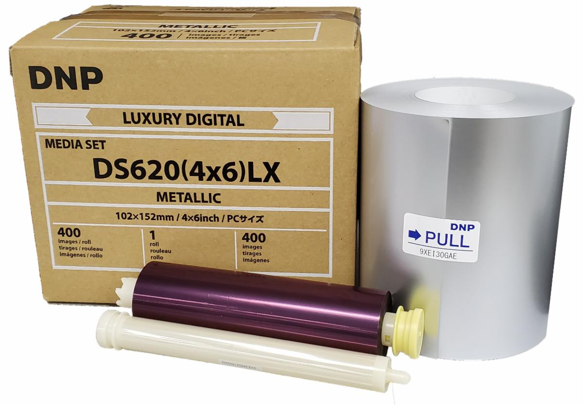 """DNP Metallic Finish 4"""" x 6"""" Luxury Media for use with DS620A Printer"""