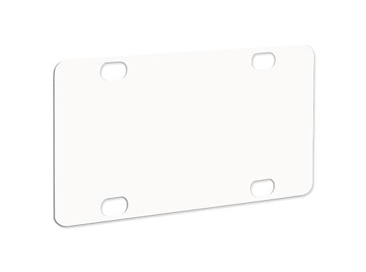 "Unisub 2.94"" x 5.88"" Aluminum Mini License Plate for Bike or Golf Cart"