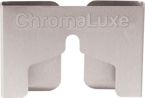 """ChromaLuxe Aluminum Brushed Silver 3"""" x 2"""" Hanging Mount 20 Pieces"""