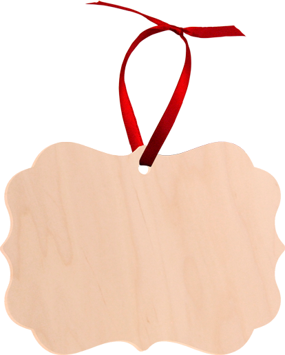"""Unisub 3.95"""" x 2.76"""" Maple Creative Border Ornament Benelux 1 Sided Natural Wood"""