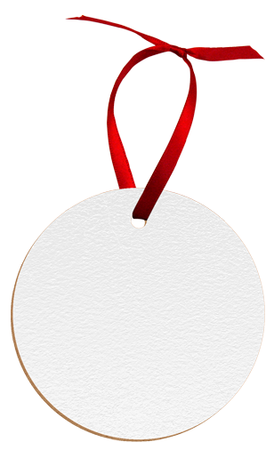 "Unisub 2.75"" Round Hardboard Circle Ornament 1 Sided"