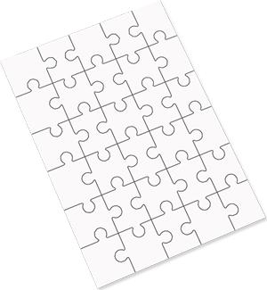 "Unisub 6.88"" x 9.84"" Hardboard Jigsaw Puzzle 30 Piece"