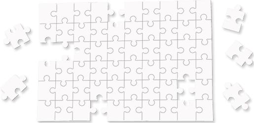 "Unisub 6.88"" x 9.84"" Hardboard Jigsaw Puzzle 60 Piece"