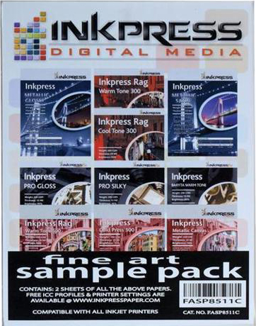 "Inkpress Fine Art Sample Pack 8.5"" x 11"""