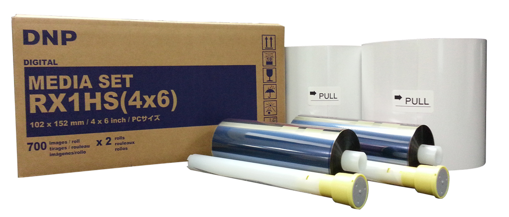 """DNP 4"""" x 6"""" Center Perforated Media for use with RX1HS Printer"""