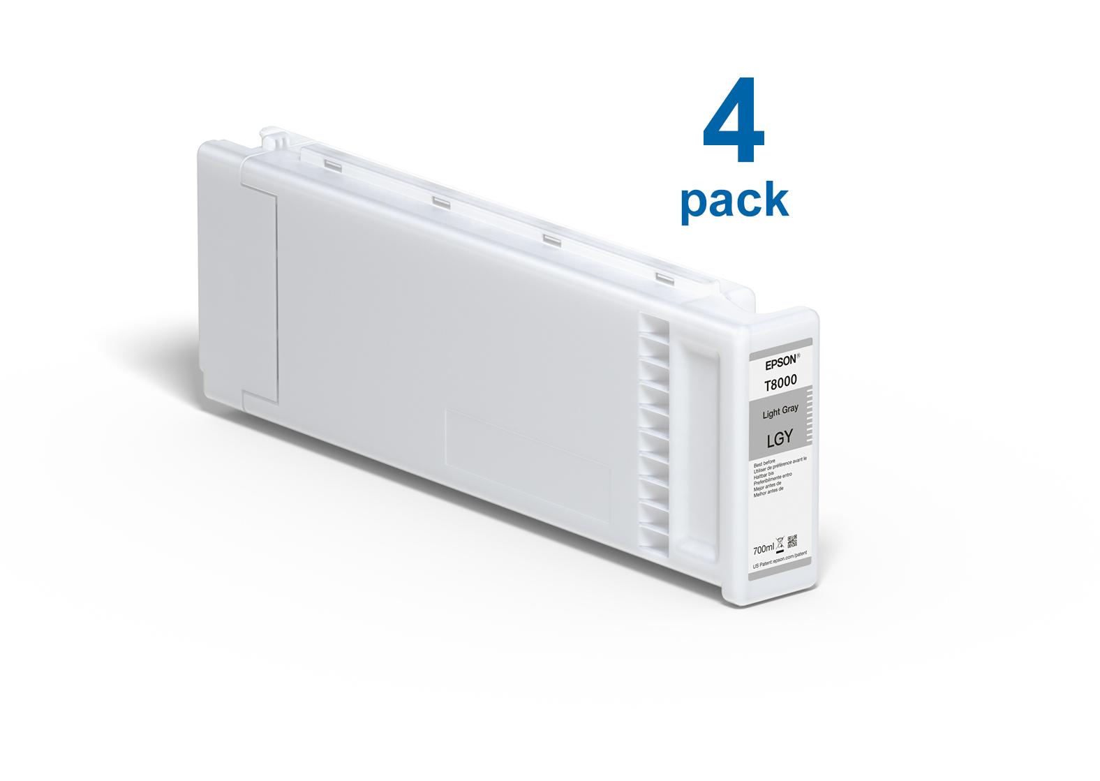 UltraChrome Pro Light Gray 700ml Ink (4 Pack) for the Epson P10000 & P20000