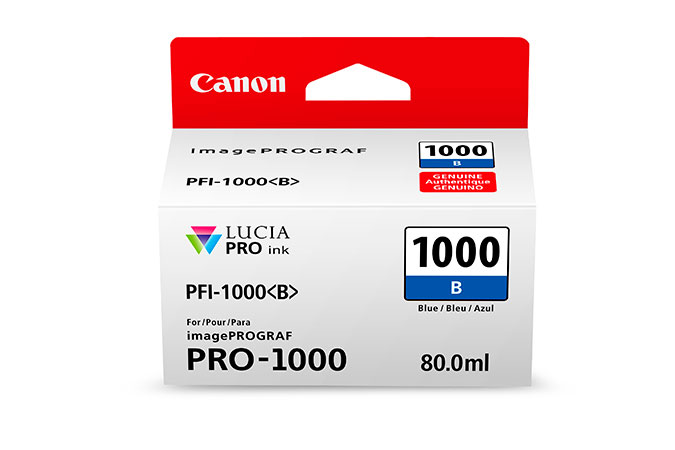 Canon 80ml PFI-1000 LUCIA PRO Ink - Blue (0555C002)