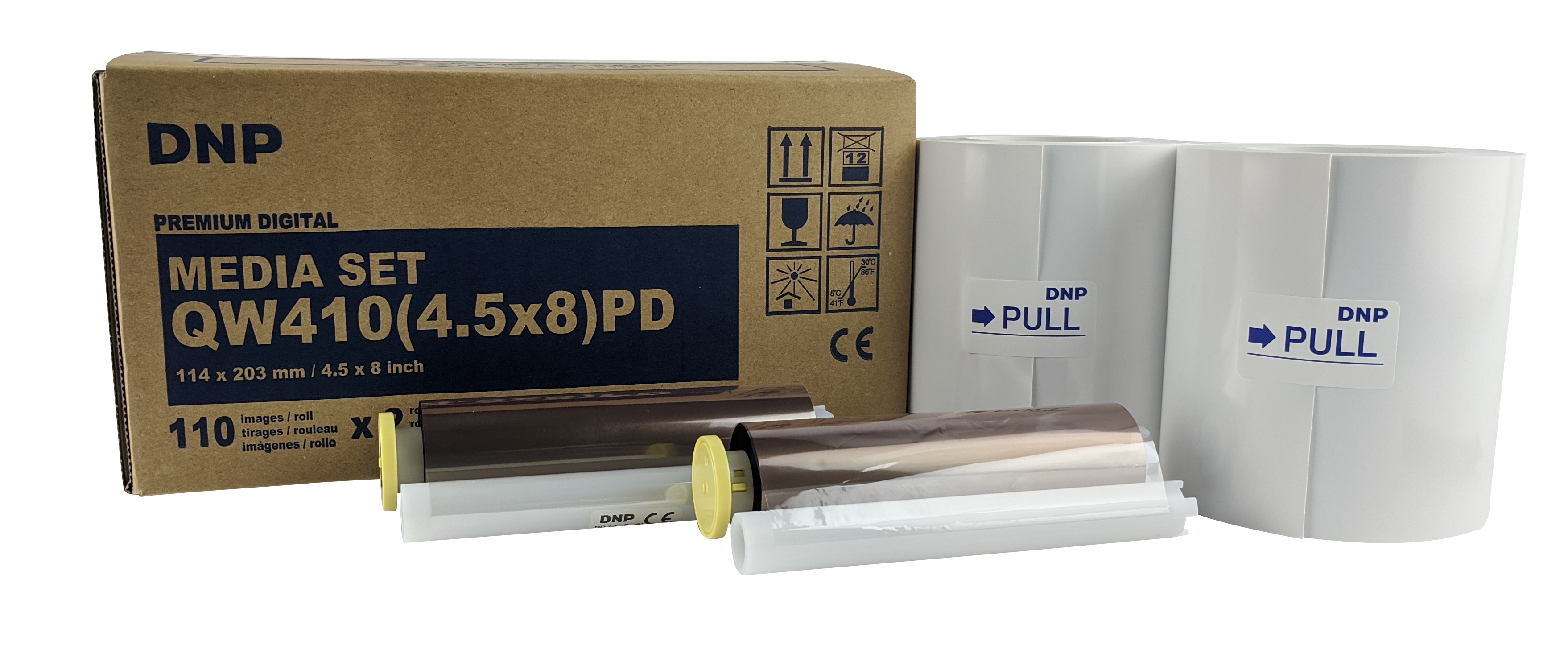 """DNP 4.5"""" x 8"""" Print Kit for use with QW410 Printer"""