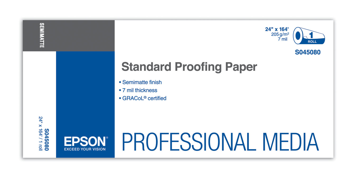 """Epson Standard Proofing Paper 24""""x164' 205g (S045080)"""