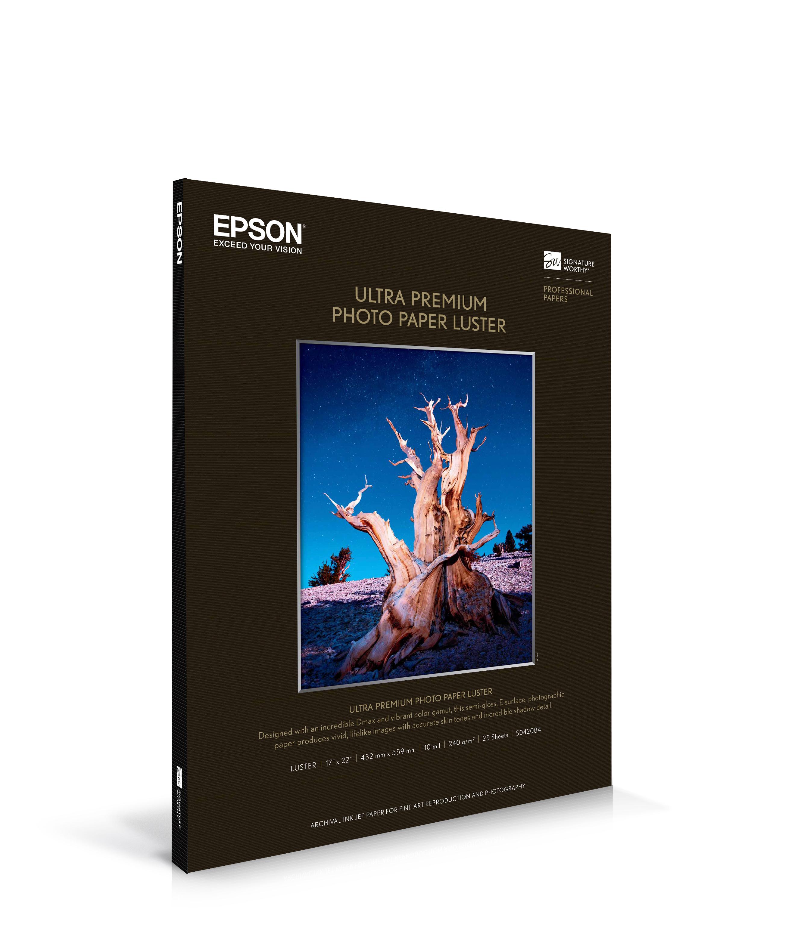 "Epson Ultra Premium Photo Paper Luster 17""x22""x25 sheets (S042084)"