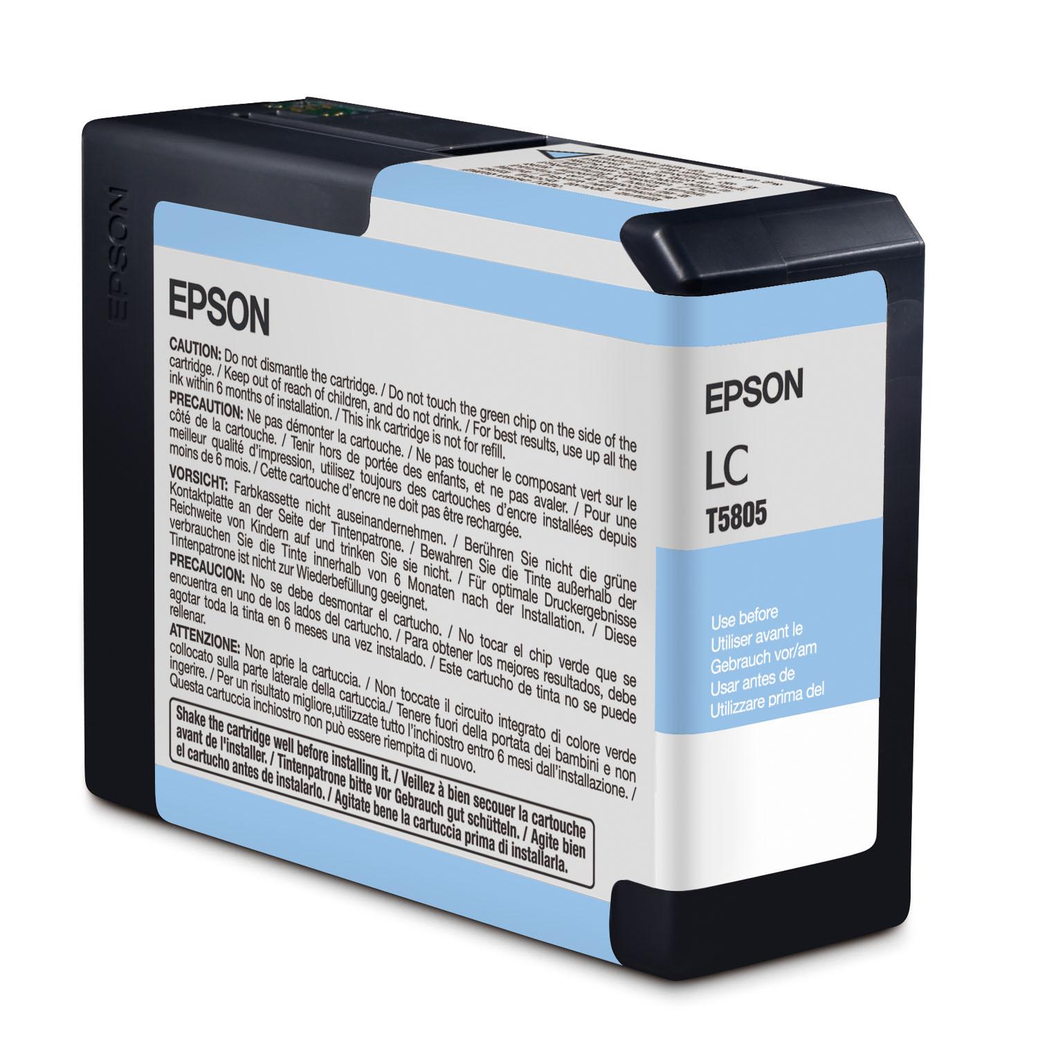Epson 3800 Light Cyan Ink 80ml (T580500)
