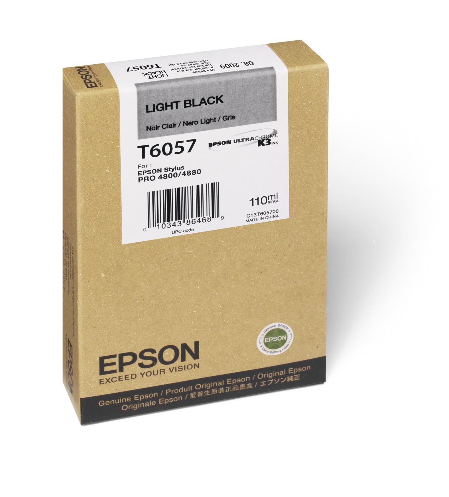 Epson 4800/4880 Light Black Ink UltraChrome (110ml) (T605700)