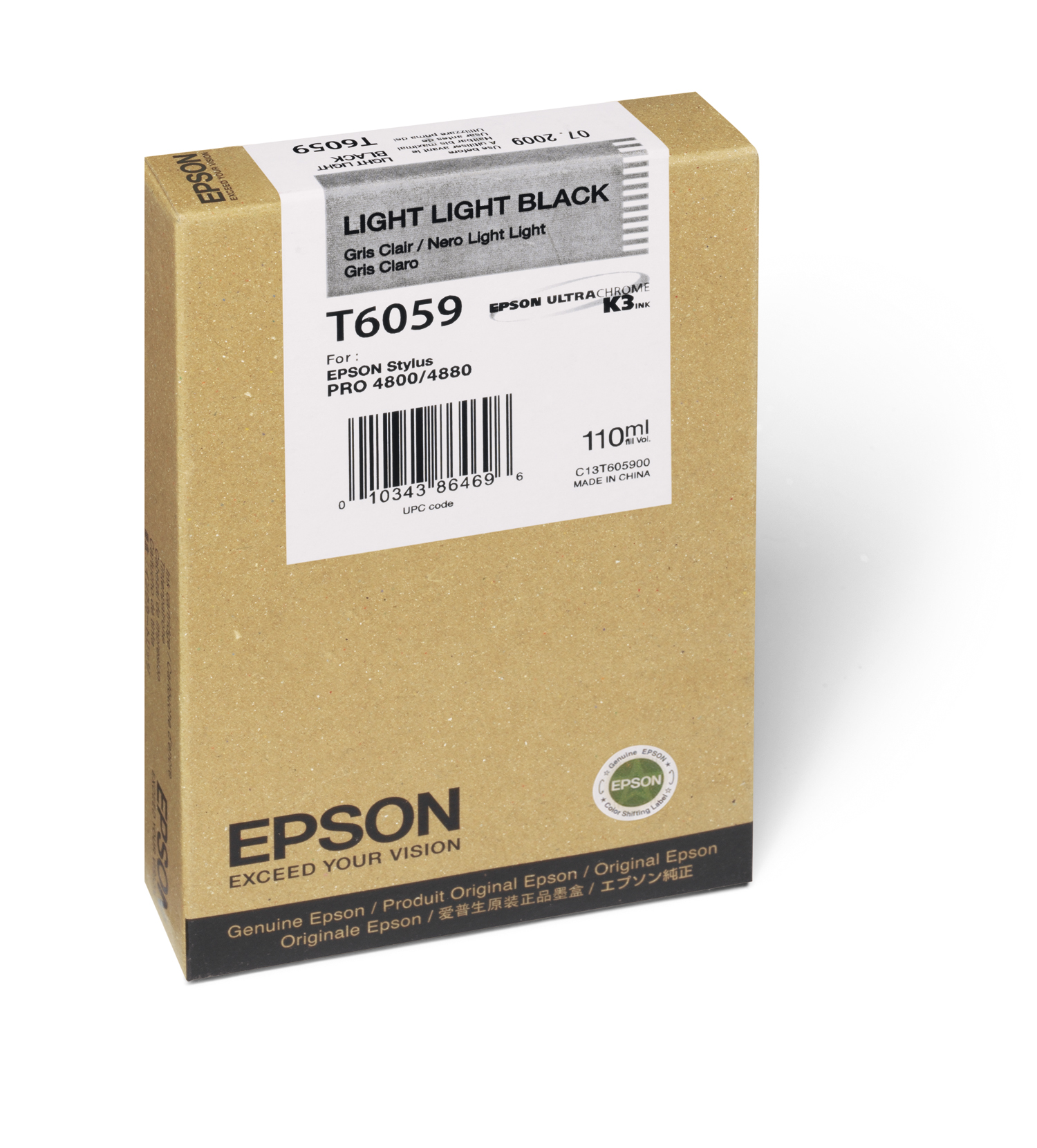 Epson 4800/4880 Light Light Black Ink UltraChrome (110ml) (T605900)