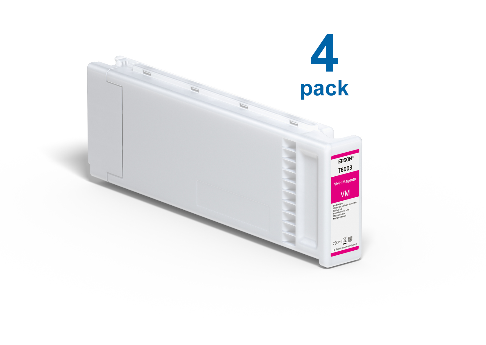 UltraChrome Pro Vivid Magenta 700ml Ink (4 Pack) for the Epson P10000 & P20000
