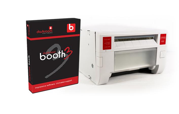 Mitsubishi CP-K60DW-S Photo Printer and Darkroom Booth Software Bundle