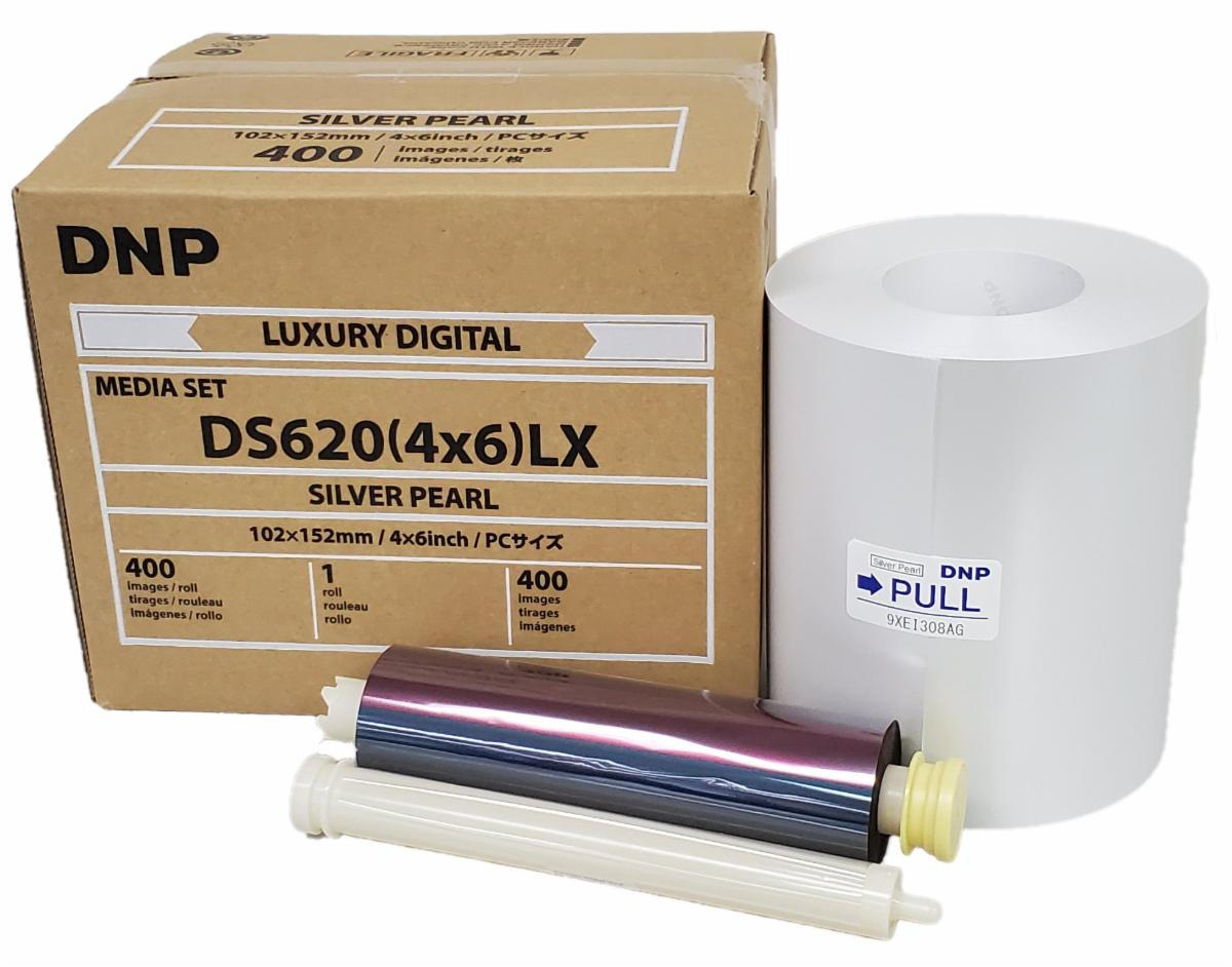 """DNP Silver-Pearl Finish 4"""" x 6"""" Luxury Media for use with DS620A Printer"""