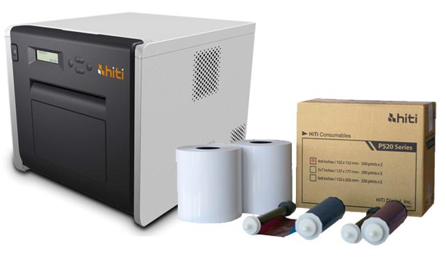 HiTi P525L Photo Booth Printer and 4x6 Media Summer Bundle