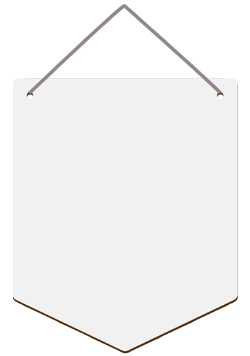 """Unisub 9.5"""" x 11.5"""" Hardboard Wall Decor - Banner with Holes and Ribbon"""