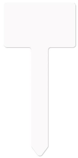 "Unisub 3.95"" x 6.9"" Aluminum Berlin Garden Stake"