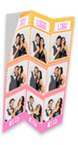 """DNP 6"""" x 8"""" Triple Strip Sticker Media for use with DS620A"""