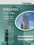 "Inkpress Clear Film 5 Mil 17"" x 22"" x20"