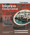 "Inkpress Glossy Canvas 17"" x 22"" x10 sheets"