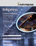 """Inkpress Linen  Matte 200 GSM 17"""" x 22"""" x50"""