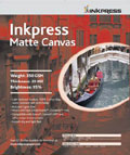 "Inkpress Matte Canvas 17"" x 22"" x10 sheets"