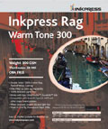 "Inkpress Rag Warm Tone 300 gsm 17"" x 22"" x20 sheets"