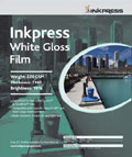 "Inkpress White Gloss Film 17"" x 22"" x20 sheets"