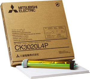 Mitsubishi 8x10 Glossy for use with CP-3020 Printer