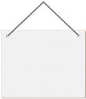 "Unisub 8 x 10"" Hardboard Wall Decor - Rectangle with Holes and Ribbon"