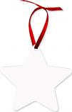 """Unisub 3.81"""" x 3.98"""" Aluminum Star Ornament 2 Sided"""