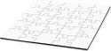 "Unisub 6.7"" Square Hardboard Jigsaw Puzzle 25 Piece"