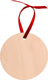 """Unisub 2.75"""" Round Maple Circle Ornament 1 Sided Natural Wood"""
