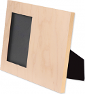 """Unisub 8"""" x 10"""" Maple Natural Wood Offset Picture Frame Holds 4"""" x 6"""" Photo"""
