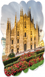 "Creative Border 8"" x 8"" Gloss White Aluminum Photo Panel - Milan Case of 10"