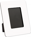 """Unisub 7"""" x 8.5"""" Hardboard Picture Frame with Easel Black Edges Holds 4"""" x 6"""" Photo"""
