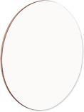 """Unisub 3.54"""" Round Gloss White Hardboard Coaster"""