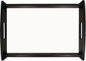"""Unisub 11.875"""" x 17.625"""" Wood HB Large Espresso Black Serving Tray with Insert"""