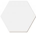 """Unisub 3.97"""" x 3.46"""" Hexagon Gloss White Hardboard Coaster"""