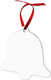 "Unisub 3.3"" x 3.33"" Aluminum Bell Ornament 2 Sided"