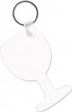 "Unisub 1.6"" x 2.7"" Aluminum Key Chain Wine Glass 2 Sided"