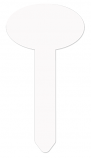 "Unisub 3.5"" x 6.9"" Aluminum Oval Garden Stake"