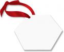 "Unisub 2.6"" x 3"" Aluminum Hexagon Ornament 2 Sided"