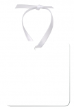 "Unisub 2.75"" Square Aluminum Ornament 1 Sided with White Ribbon"